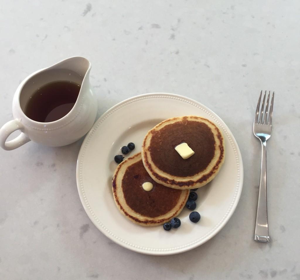 Gluten free almond blueberry pancakes, gluten free avenger