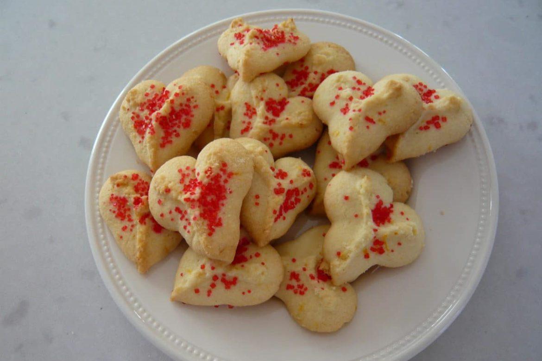 Gluten Free Spritz Cookies- Valentine's Day Edition