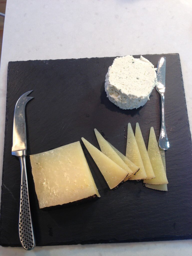 Boursin and Manchego cheese