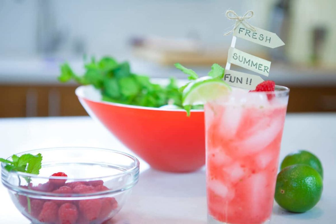 Raspberry Mojito- My Favorite Summer Cocktail