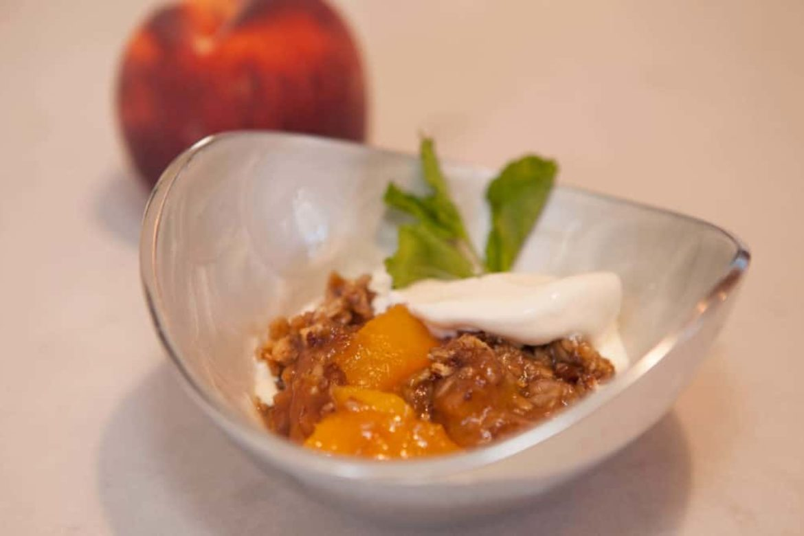 Peach Crisp- In Honor of National Peach Month