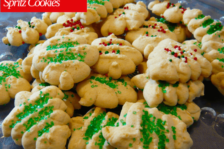 Gluten Free Spritz Cookies- Christmas Edition