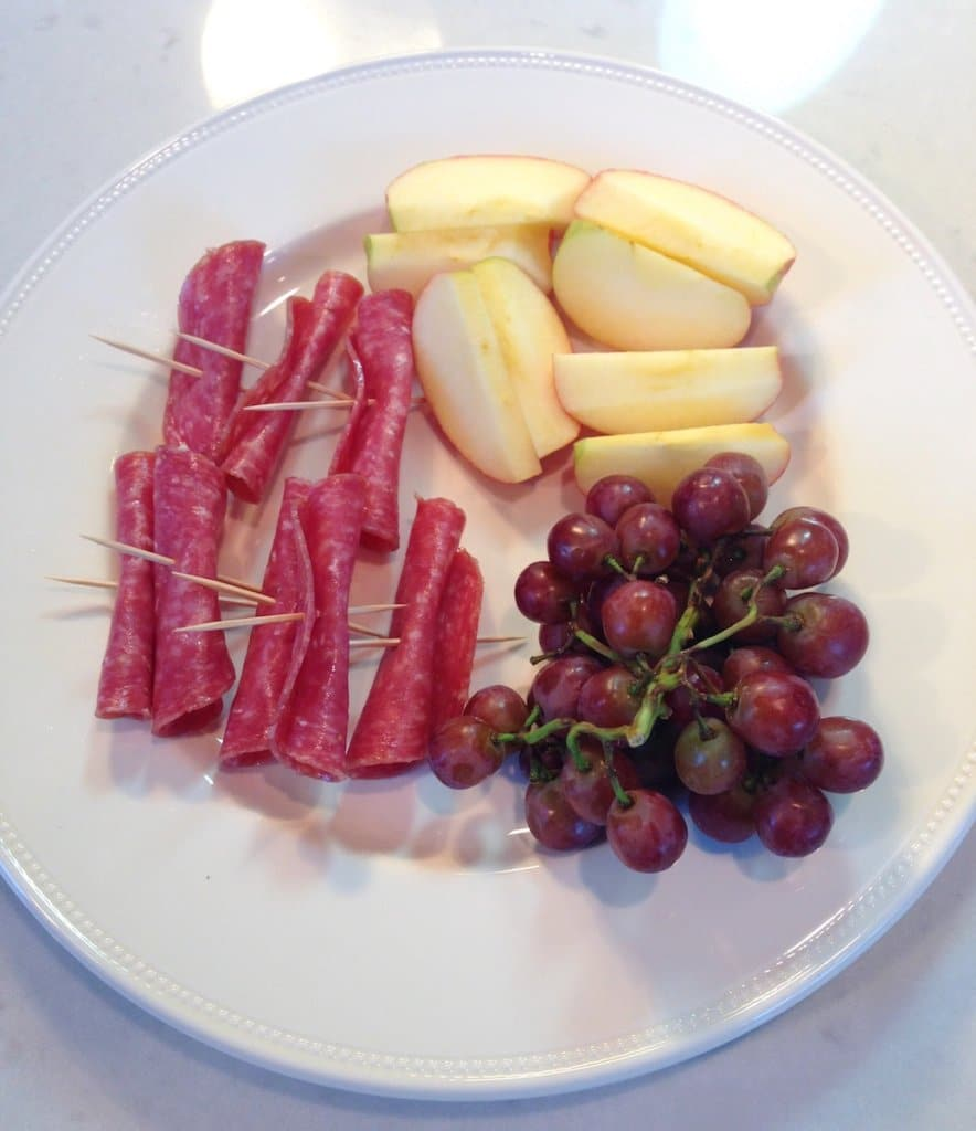 meat and fruit platter
