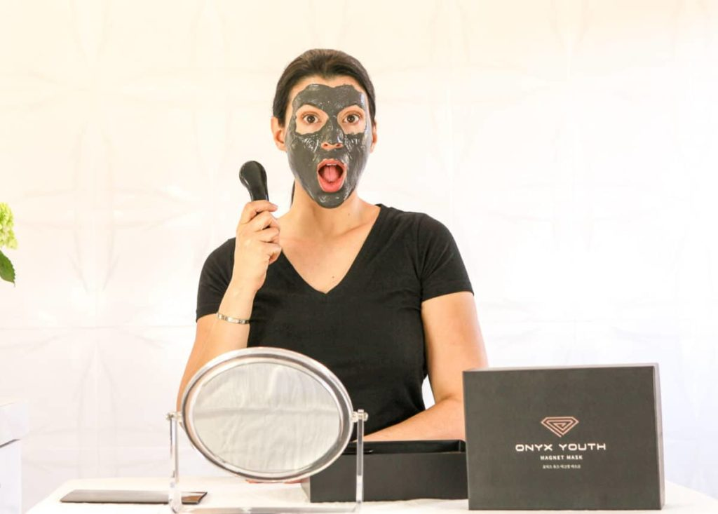 Onyx Youth Magnet Mask, charcoal magnetic mask