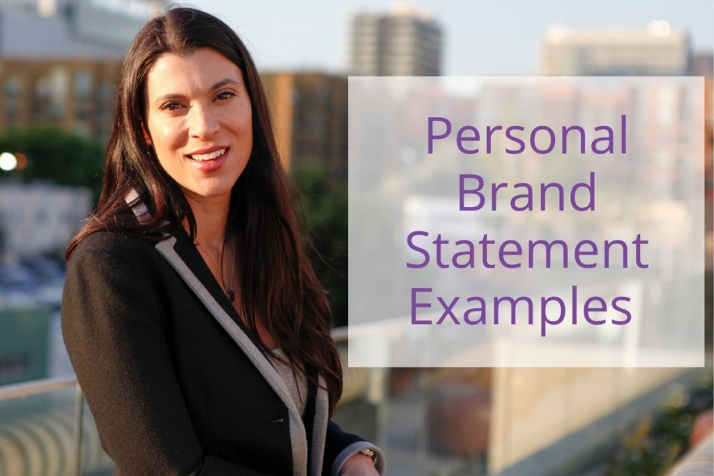 personal brand statement examples