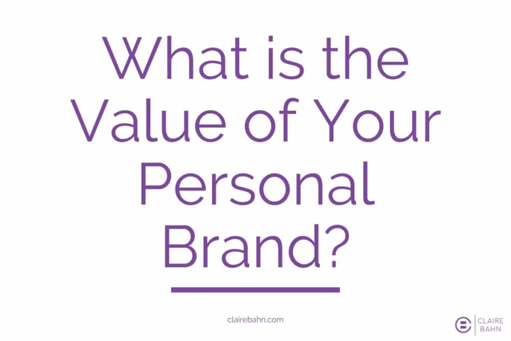 value of your personal brand