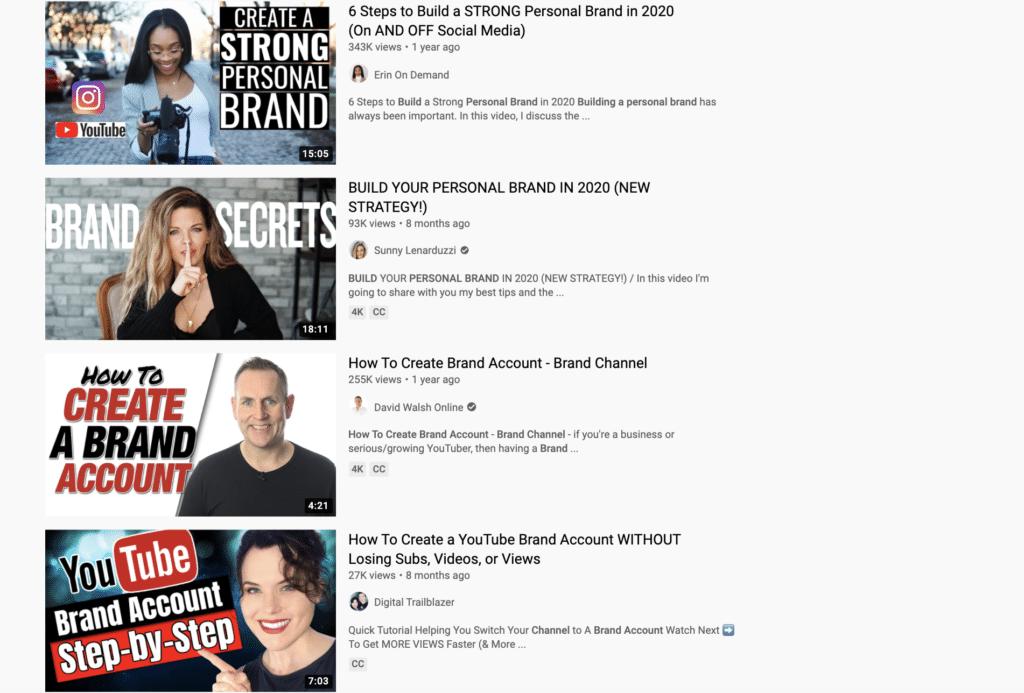 brand YouTube
