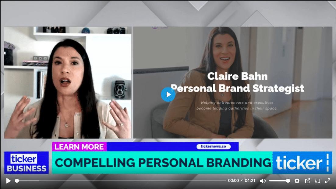 claire bahn, ticker news, personal branding